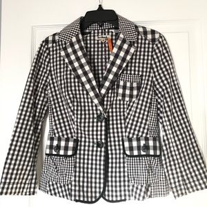 Anthropologie: Taikonhu gingham jacket. Size 0.